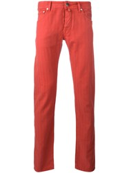 Jacob Cohen Mid Rise Chinos Red