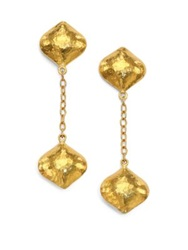 Gurhan Clove 24K Yellow Gold Cielo Long Chain Drop Earrings