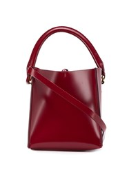 Sophie Hulme Small Albion Tote Bag Red