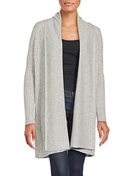 Cashmere Saks Fifth Avenue Open Front Cardigan Cappuccino