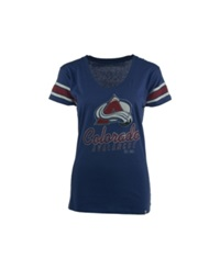 '47 Brand Women's Colorado Avalanche Off Campus Scoop T Shirt Royalblue