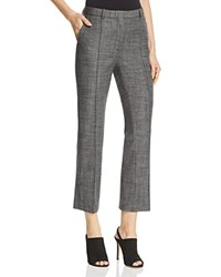 Theory Hartsdale Stretch Wool Pants Dark Grey Melange