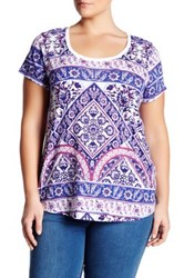 Lucky Brand Placed Rug Tee Plus Size White