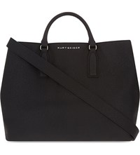 Kurt Geiger London Chelsea Saffiano Leather Tote Black
