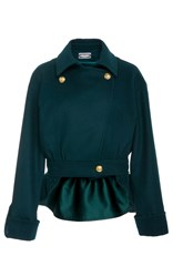 Alexis Mabille Collared Jacket Green