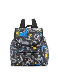 Le Sport Sac Edie Small Backpack Chalkboard Snoopy