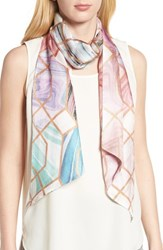 Ted Baker London Adeelee Sea Of Clouds Silk Scarf White