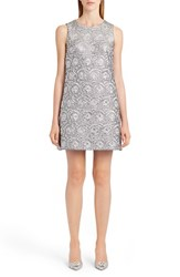 Dolce And Gabbana Women's Metallic Jacquard Shift Dress
