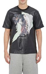 Givenchy Leather T Shirt Black