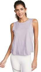 Beyond Yoga All About It Cropped Tank Wild Wisteria