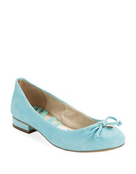 Anne Klein Petrica Leather Bow Tie Flats Light Blue