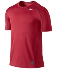 Nike Pro Cool Fitted Dri Fit Shirt Gym Red White