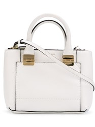 Emporio Armani Embossed Logo Cross Body Bag White