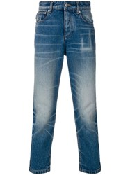 Ami Alexandre Mattiussi 5 Pocket Cropped Jeans Blue