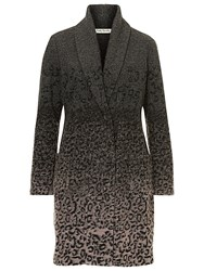 Betty Barclay Unlined Animal Print Jacket Grey Taupe
