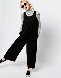 Monki Sleeveless Wide Leg Jumpsuit Black