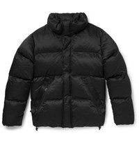 Tom Ford Oversized Quilted Cotton Blend Down Jacket Black
