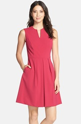 Marc New York By Andrew Marc Sleeveless Fit And Flare Dress Berry