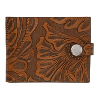 Our Legacy Brown Engraved Flowers Wallet