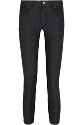 Victoria Beckham Cropped Mid Rise Skinny Jeans