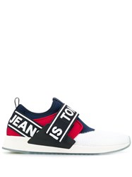Tommy Hilfiger Logo Slip On Sneakers White