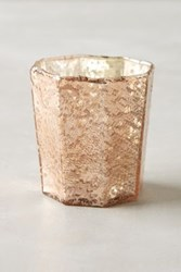 Anthropologie Bubbled Mercury Glass Votive Rose