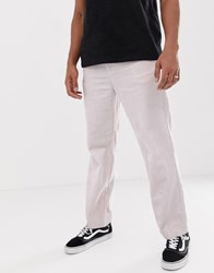 Weekday Pinewood Cord Chinos In Light Pink