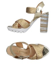 Luca Stefani Sandals Gold