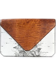 Alexander Wang 'Prisma' Envelope Clutch Brown