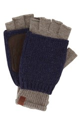 Men's Ben Sherman Knit Wool Blend Fingerless Gloves Beige Champagne