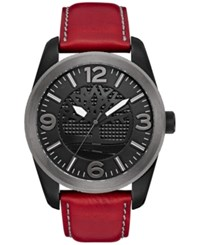 Timberland Men's Bolton Red Brown Leather Strap Watch 46X57mm Tbl14770jsbu02 Red Brown