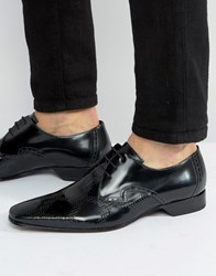 Jeffery West Escobar Diamond Embossed Derby Shoes Black