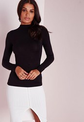 Missguided Tall Black Long Sleeve Turtle Neck Top