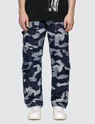Valentino Denim Cargo Pants Blue