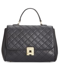 Calvin Klein Quilted Satchel Black Gold