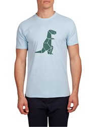 Hymn T Rex Graphic T Shirt Blue
