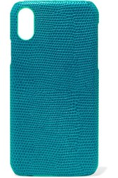 The Case Factory Lizard Effect Leather Iphone X Blue
