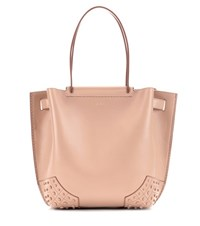 Tod's Gommini Small Leather Tote Pink