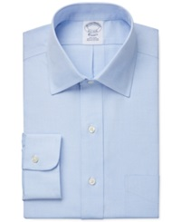 Brooks Brothers Slim Fit Non Iron Pinpoint Solid Dress Shirt Light Blue