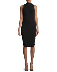 Milly Shirred Side Sheath Dress Black