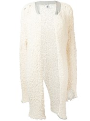 Lost And Found Ria Dunn Tweed Long Cardigan White