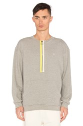 Mr. Completely Zipper Crewneck Gray