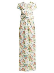 Emilia Wickstead Beatrice Floral Print Sateen Dress Multi