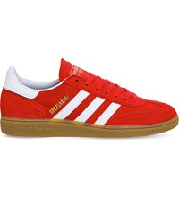 Adidas Spezial Suede Trainers Red White Gold