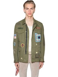 Amiri Brothers Military Short Parka Jacket Army Green