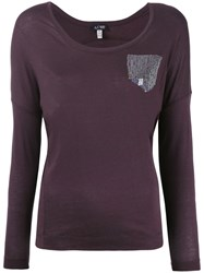 Armani Jeans Sequin Embellished Sweater Women Cotton Modal 36 Brown