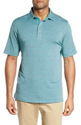 Bobby Jones 'S Xh2o Tranquil Stripe Jersey Polo Wintergreen