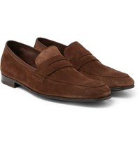 Paul Smith Glynn Suede Penny Loafers Brown