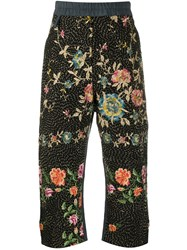 By Walid Floral Embroidered Cropped Trousers 60