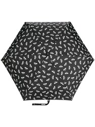 Moschino Logo Printed Umbrella Black